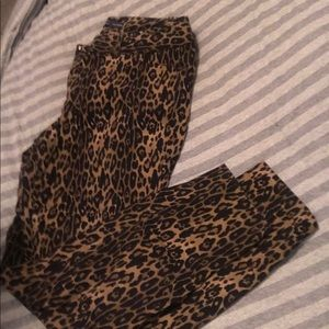 The Limited Ideal Stretch Pants- Leopard Print